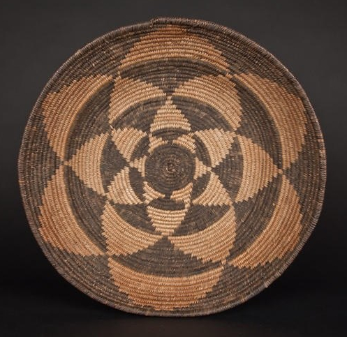 Native American Indian Apache Rosette basket